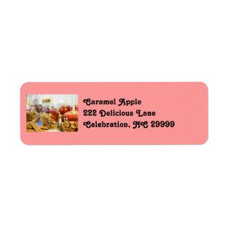 Caramel Peanut Apples Return Address Label
