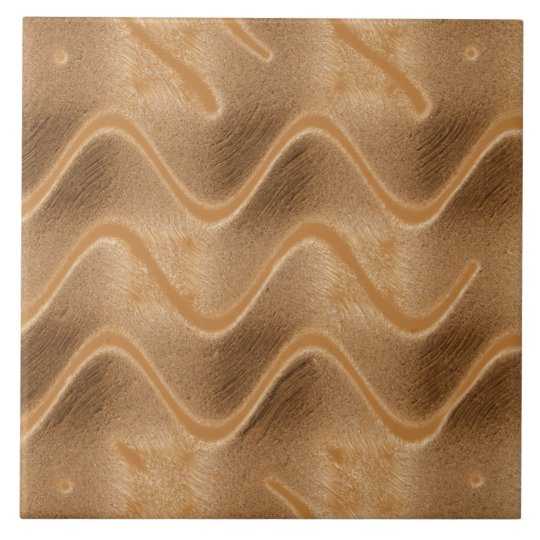 Caramel Swirl Abstract Tile