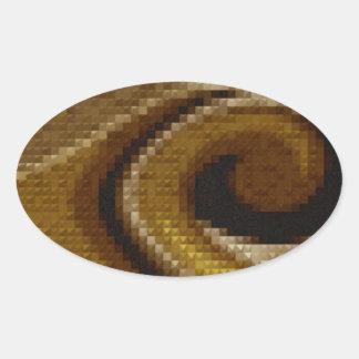 caramel swirl.jpg oval sticker