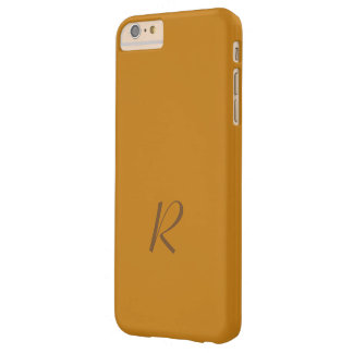 Caramel Tone Monogram iPhone Plus cover Barely There iPhone 6 Plus Case