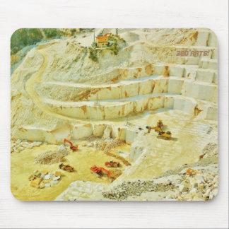 Cararra Marble Quarry Big Rigs,Traditonal Mousepad