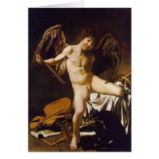 Caravaggio- Amor Victorious Card