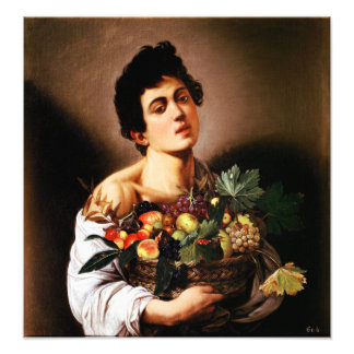 Caravaggio Boy With a Basket of Fruit Art Photo