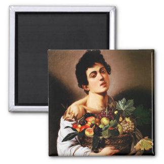 Caravaggio Boy With a Basket of Fruit Magnet