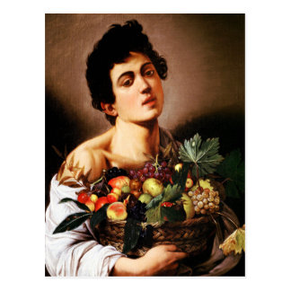 Caravaggio Boy With a Basket of Fruit Postcard
