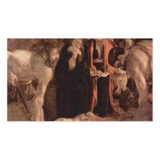 Caravaggio- Burial of Saint Lucy Business Card