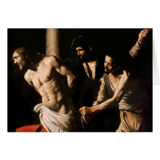 Caravaggio - Christ at the Column Greeting Card
