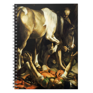 Caravaggio Conversion of St. Paul Spiral Notebook