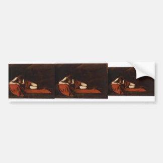 Caravaggio- John the Baptist (Reclining Baptist) Bumper Sticker