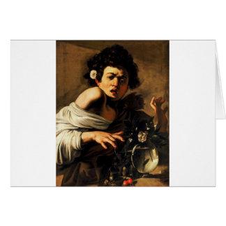 Caravaggio Lizard Boy Greeting Card