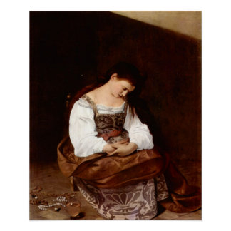 Caravaggio-Mary Magdalene Poster