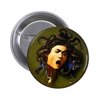 Caravaggio Medusa Button