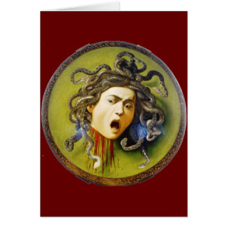 Caravaggio Medusa Greeting Cards