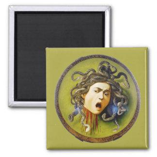 Caravaggio Medusa Fine Art Square Magnet