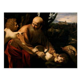 Caravaggio - Sacrifice of Isaac Postcard