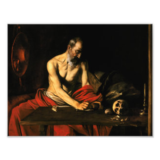 Caravaggio - Saint Jerome Writing Photo Print