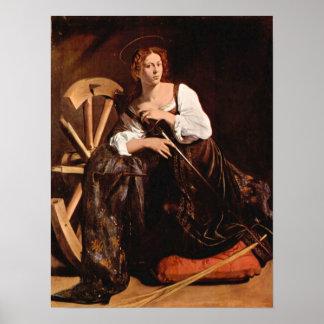 Caravaggio-St. Catherine of Alexandria Posters