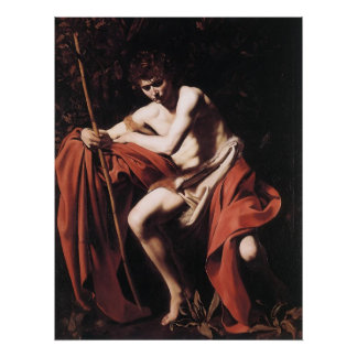 Caravaggio St John The Baptist Poster