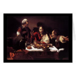 Caravaggio Supper At Emmaus Greeting Card