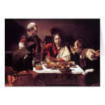 Caravaggio - Supper at Emmaus Greeting Card