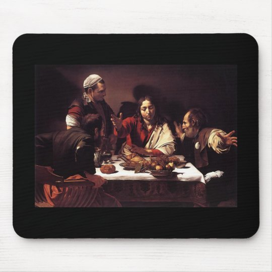Caravaggio Supper At Emmaus Mouse Mat