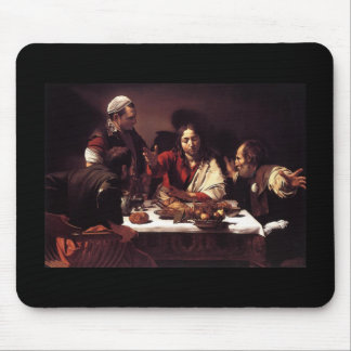 Caravaggio Supper At Emmaus Mouse Pad