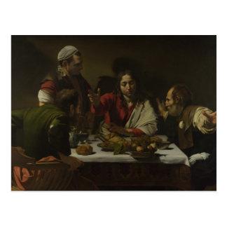 Caravaggio - Supper at Emmaus Postcard