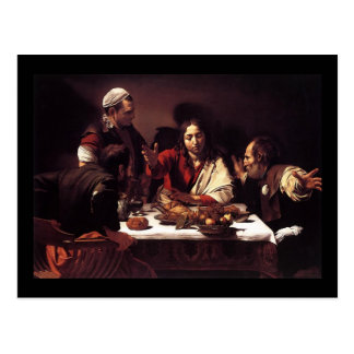 Caravaggio Supper At Emmaus Postcard