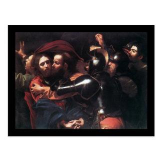 Caravaggio Taking Of Christ Postcard