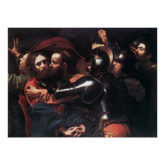 Caravaggio Taking Of Christ Poster