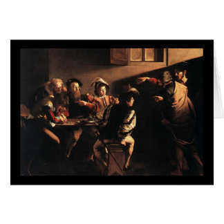 Caravaggio The Calling Of Saint Matthew Card
