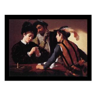 Caravaggio The Cardsharps Postcard