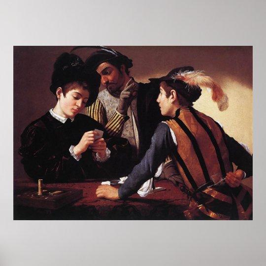 Caravaggio The Cardsharps Poster