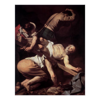 Caravaggio The Crucifixion Of Saint Peter Poster