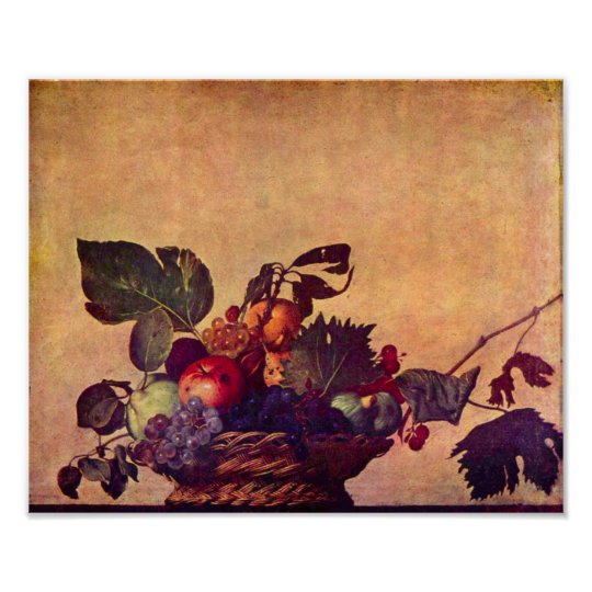 Caravaggio-The fruit basket Poster
