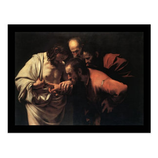 Caravaggio The Incredulity Of Saint Thomas Postcard