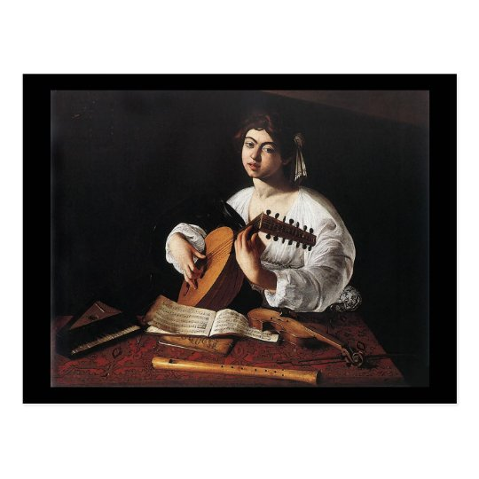 Caravaggio The Lute Player Postcard