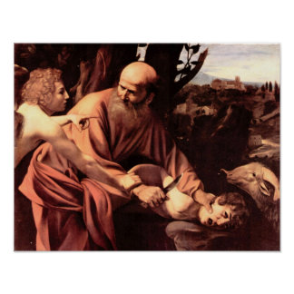 Caravaggio-The sacrifice of Isaac s Poster