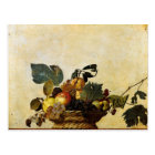 Caravaggio's Basket of Fruit Postcard