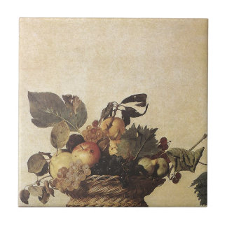 Caravaggio's Basket of Fruit Tile