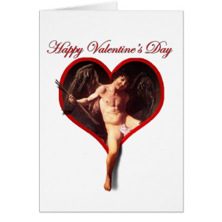 Caravaggio's Cupid for Valentine's Day Greeting Card