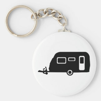 Caravan Basic Round Button Key Ring