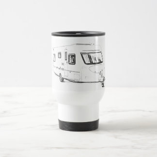 """Caravan"" design travel mugs"