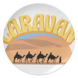 Caravan Dinner Plate