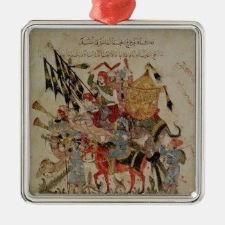 Caravan going to Mecca Silver-Colored Square Decoration