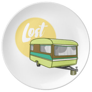 Caravan Lost Summer Sun Porcelain Plate