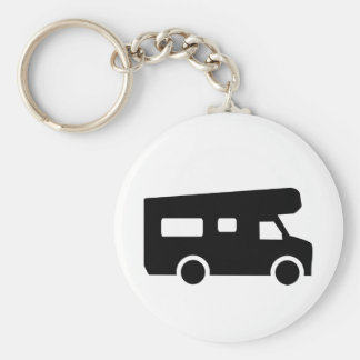 Caravan - Motorhome Basic Round Button Key Ring