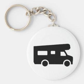 Caravan - Motorhome Basic Round Button Key Ring