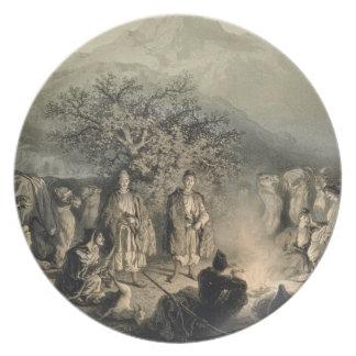 Caravan of Armenian Merchants, Transcaucasia, plat Party Plate