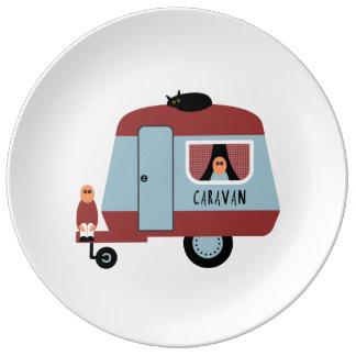 Caravan Porcelain Plate